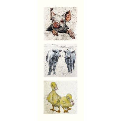 AnnabelLangrish Farmyard by Annabel Langrish 3 Piece Graphic Art Set