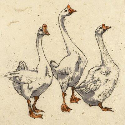 AnnabelLangrish Three Geese by Annabel Langrish Graphic Art