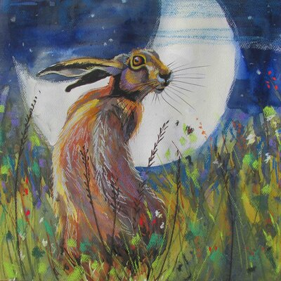 AnnabelLangrish Hare and the Moon by Annabel Langrish Graphic Art