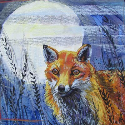 AnnabelLangrish Fox and the Moon by Annabel Langrish Graphic Art