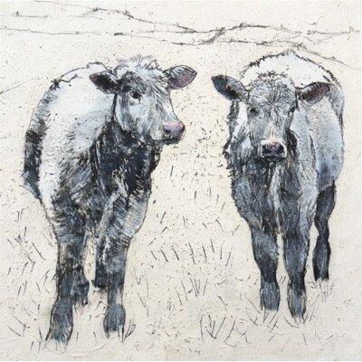 AnnabelLangrish Moo by Annabel Langrish Graphic Art in Grey