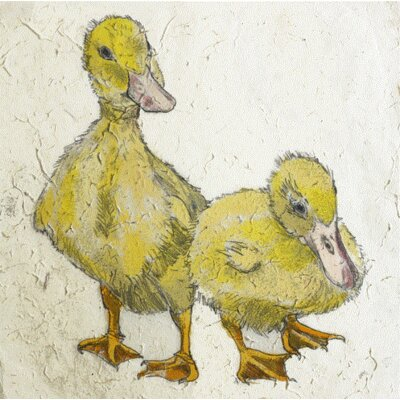 AnnabelLangrish Ducklings by Annabel Langrish Graphic Art in Yellow