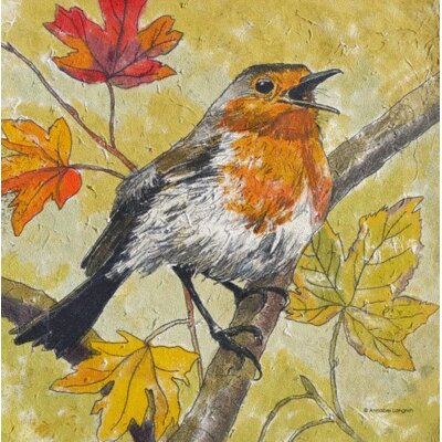 AnnabelLangrish Robin by Annabel Langrish Graphic Art in Yellow