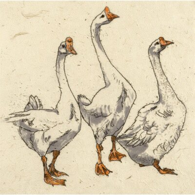 AnnabelLangrish Three Geese by Annabel Langrish Graphic Art