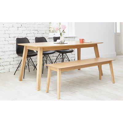 OutAndOutOriginal Indiana Dining Table and 3 Chairs and Bench