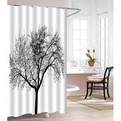 Tree Design Heavy-Weight Waterproof Vinyl Shower Curtain