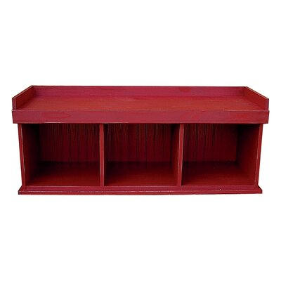 Wood Storage Bench Color: Old Red