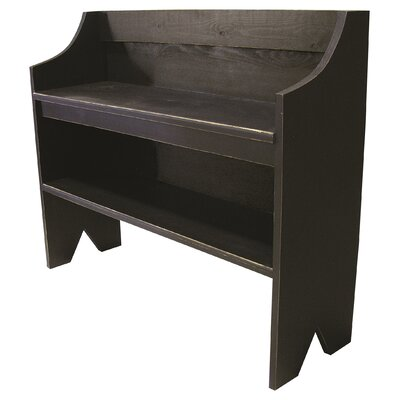 Wood Storage Bench Color: Old Black