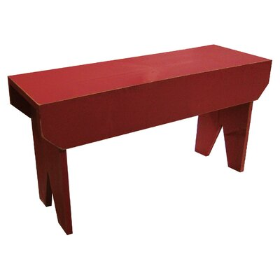 "Simple Wood Bench Color: Red, Size: 16"" H x 24"" W x 10.5"" D"
