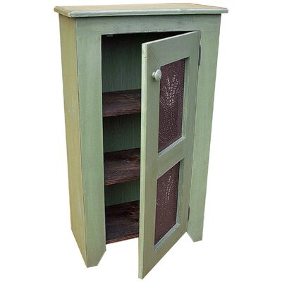Punched Tin Accent Cabinet Color: Sage