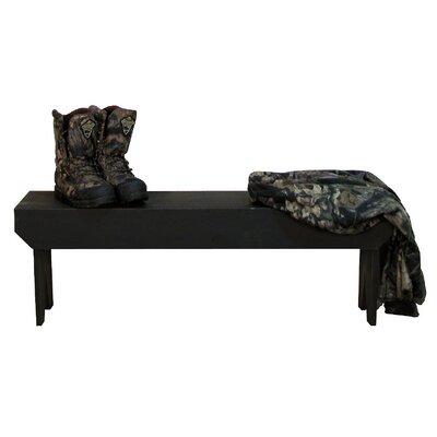 """Simple Wood Bench Color: Black, Size: 16"""" H x 36"""" W x 10.5"""" D"""