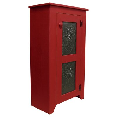 Punched Tin Accent Cabinet Color: Red