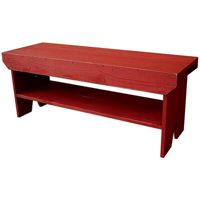 Wood Storage Bench Color: Gold