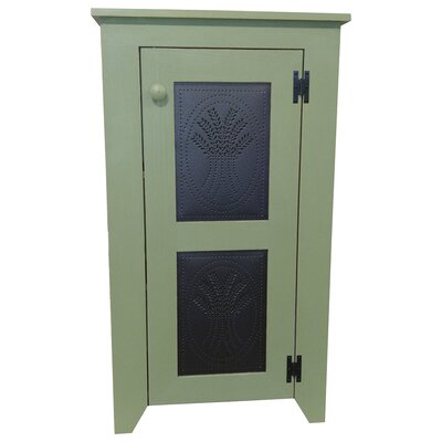 Punched Tin Accent Cabinet Color: Old Sage