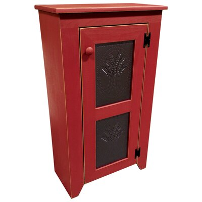Punched Tin Accent Cabinet Color: Old Red