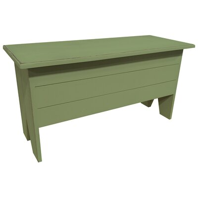 Wooden Storage Bench Color: Sage