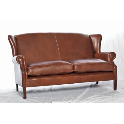 UK Icon Design Victorian Genuine Leather 2 Seater Sofa