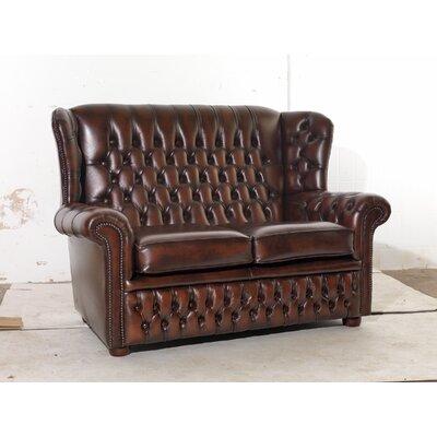 UK Icon Design Potter Genuine Leather 2 Seater Sofa