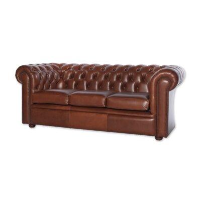 UK Icon Design Christopher Genuine Leather 3 Seater Sofa
