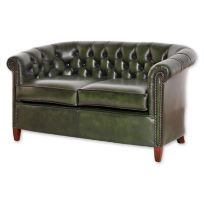 UK Icon Design Victoria Genuine Leather 2 Seater Sofa