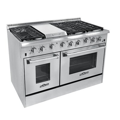 "Professional 48"" Free-standing Dual Fuel Range with Griddle"