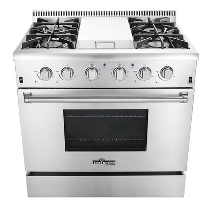 "Professional 36"" Free-standing Gas Range with Griddle"