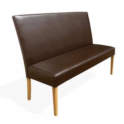 SAM Stil Art Möbel GmbH Gepolsterte Küchenbank Faro aus recyceltem Leder