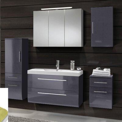 SAM Stil Art Möbel GmbH 5-tlg. Badezimmerset Zypern mit Mineralgussbecken