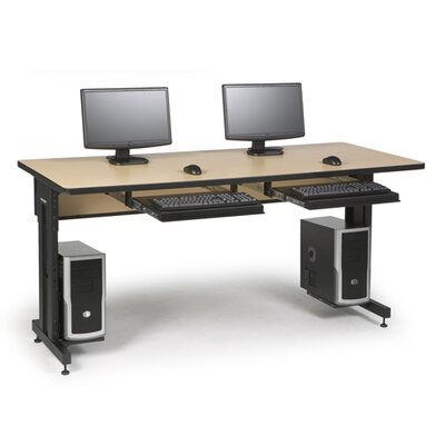 "ACTT Height Adjustable Training Table Tabletop Finish: Hard Rock Maple, Size: 28-35"" H x 72"" W x 30"" D"