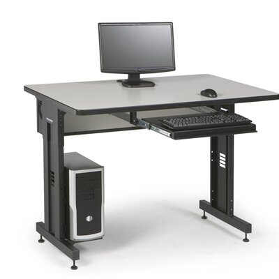 "ACTT Height Adjustable Training Table Tabletop Finish: Folkstone, Size: 28-35"" H x 48"" W x 30"" D"