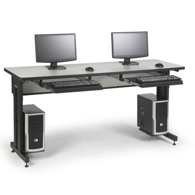 "ACTT Height Adjustable Training Table Tabletop Finish: Folkstone, Size: 28-35"" H x 72"" W x 24"" D"