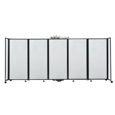 360 5 Panel Room Divider Color: Clear