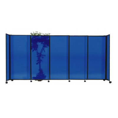 StraightWall 7 Panel Room Divider Color: Blue
