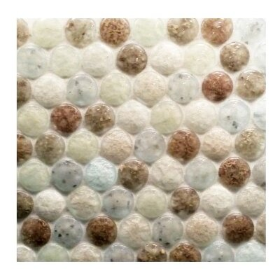 """Lakeview 11.40"""" x 11"""" Glass Mosaic Tile in Drop Torrent"""
