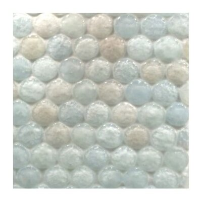 """Lakeview 11.40"""" x 11"""" Glass Mosaic Tile in Drop Ice"""