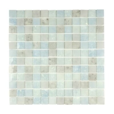 """Lakeview 1"""" x 1"""" Glass Mosaic Tile in Barbados"""
