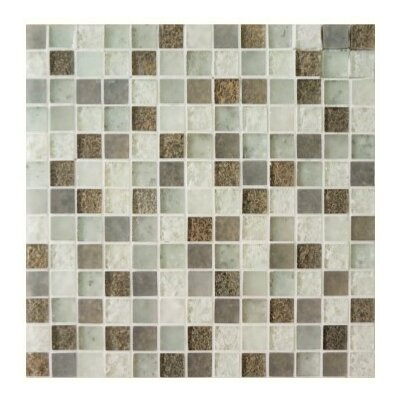 """Lakeview 1"""" x 1"""" Glass Mosaic Tile in St Barth"""