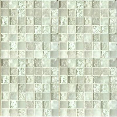 """Lakeview 1"""" x 1"""" Glass Mosaic Tile in Nevis"""