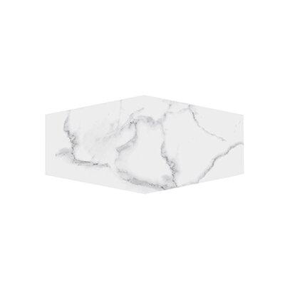 "Winter Solstice 9.5"" x 19.25"" Porcelain Field Tile in White"