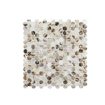"Coastal Forest 12.38"" x 12.88"" Wishing Well Mosaic Tile in Beige"