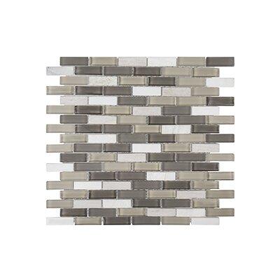 """Misty Harbor 11.75"""" x 11.88"""" Vanilla Bean Mosaic Tile in White"""