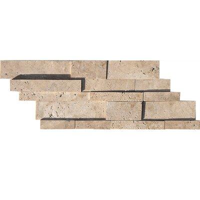 Ledger Random Sized Stone Mosaic Tile in Walnut
