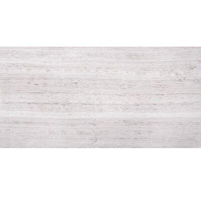 """Wood Grain 12"""" x 24"""" Marble Field Tile in Gray"""