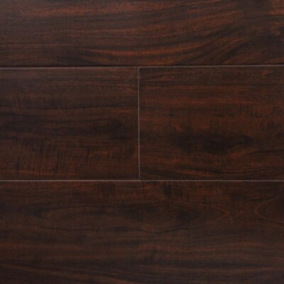 "6"" x 48"" x 12.3mm Laminate Flooring in Wild Walnut (Set of 22)"