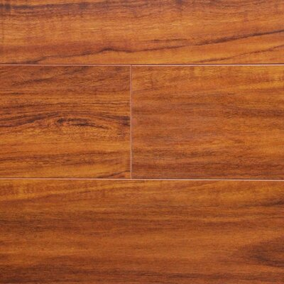 "7"" x 48"" x 12.3mm Laminate Flooring in Brazilian Cherry"
