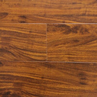 "6"" x 48"" x 12.3mm Laminate Flooring in Golden Walnut (Set of 22)"
