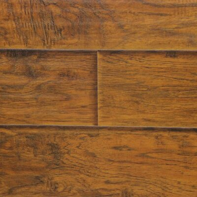 """6"""" x 48"""" x 12.3mm Laminate Flooring in Sunset Hickory (Set of 22)"""