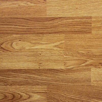 "8"" x 48"" x 8.2mm Laminate Flooring in Red Oak (Set of 22)"