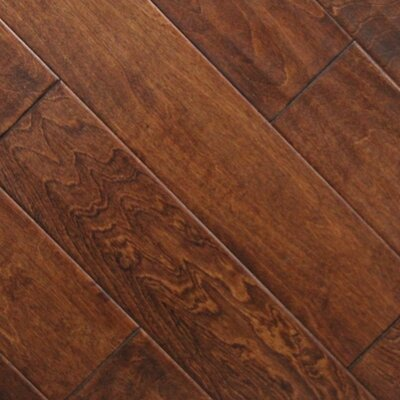 "5"" x 48"" x 2.7mm Birch Laminate Flooring in Burnt Sienna (Set of 22)"