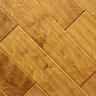 "5"" x 48"" x 2.7mm Birch Laminate Flooring in Caramel (Set of 22)"